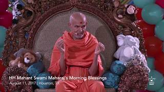 Guruhari Ashirwad 11 Aug 2017 (Morning), Houston, TX, USA