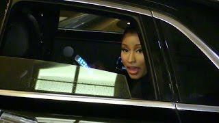 EXCLUSIVE: Nicki Minaj and boyfriend talking to fans at her hotel in Paris