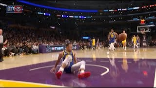 Stephen Curry Takes An Embarrassing Spill At Staples Center