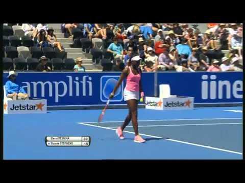 Elena Vesnina vs Sloane Stephens, Moorilla Hobart International 2013