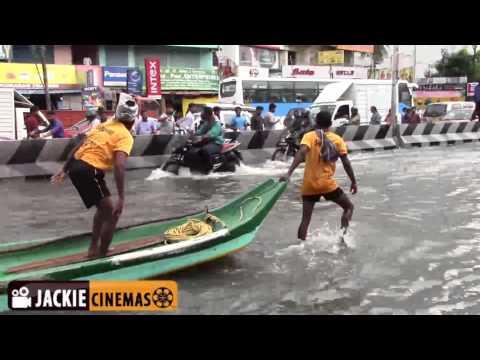 Chennai Velachery Road Flooded due to heavy Rain   Boats & Buses on Road