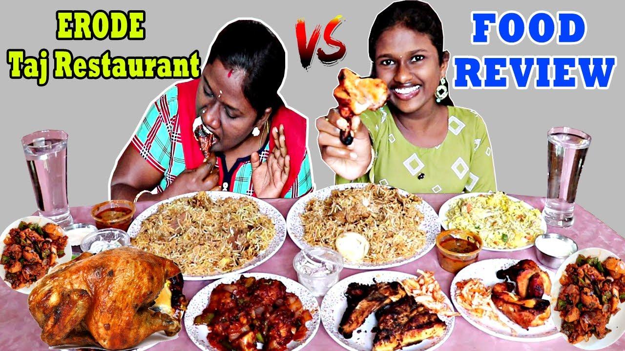 HYDERABADI MUTTON BIRYANI & CHICKEN BIRYANI FULL GRILLED CHICKEN  IN TAMIL FOODIES DIVYA vs ANUSHYA