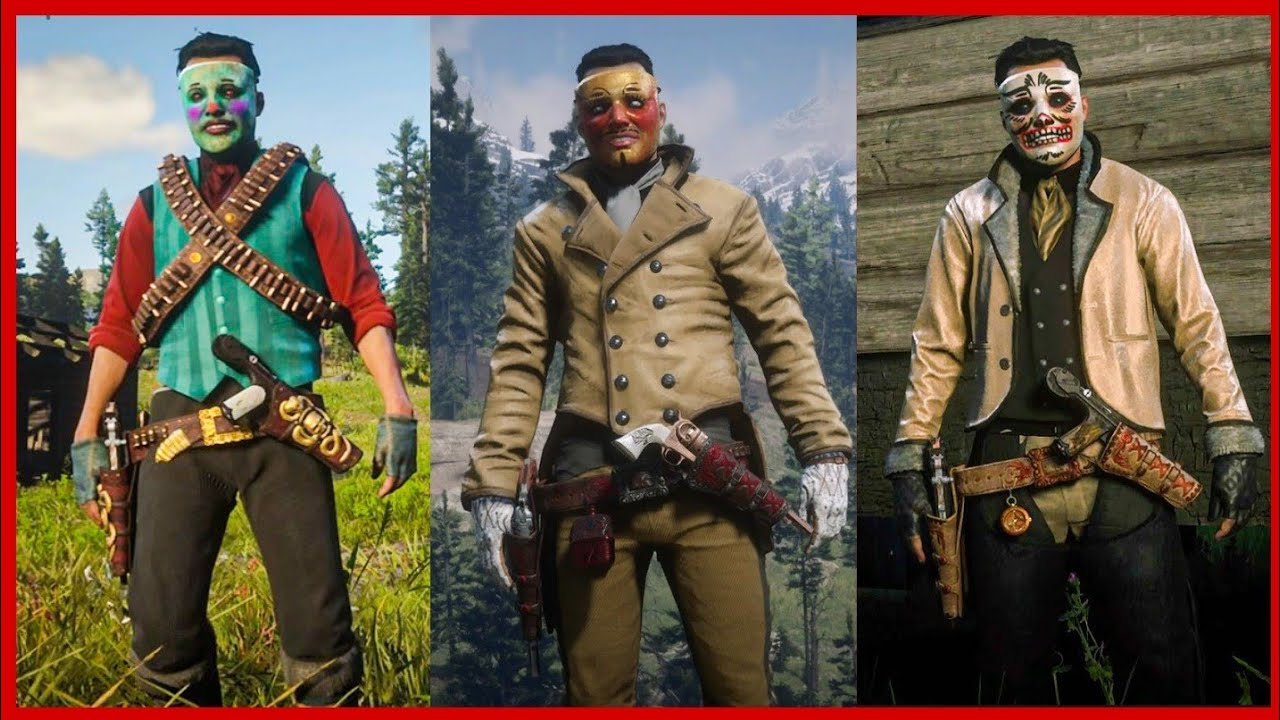 Red Dead Online Masked outfits new showdowns outfits - YouTube