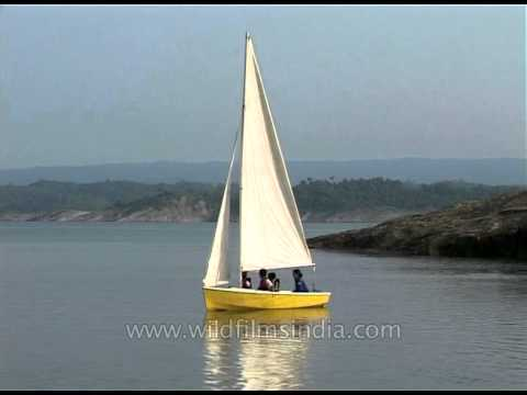 Sailing on a small sailboat in India