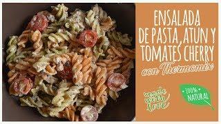 Ensalada de pasta, atún y tomates cherry con Thermomix