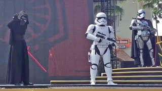 NEW Kylo Ren, Captain Phasma in Star Wars: The Force Awakens stage show at Walt Disney World