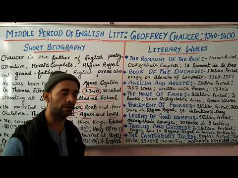 TGT/ PGT/ UGC- Geoffrey Chaucer, A Biography- Shivam Dubey at English Kingdom, Katra (9369542072)