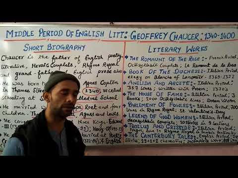 TGT/ PGT/ UGC- Geoffrey Chaucer, A Biography- Shivam Dubey at English Kingdom, Katra (9369542072)