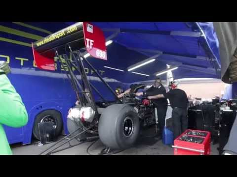 10000 BHP Top Fuel Dragster Warm Up - Close Up!