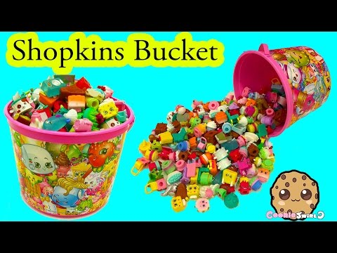Bucket Full Of Shopkins Season 5 + Surprise Blind Bags Unboxing Cookieswirlc Video