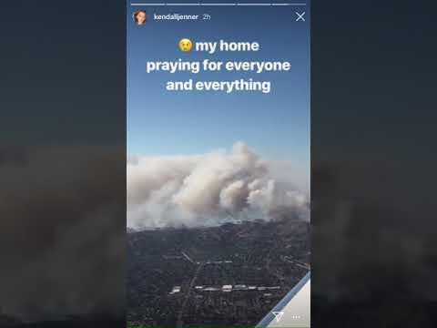 La grosse frayeur des Kardashian et d'Alyssa Milano à cause de l'incendie près de Malibu