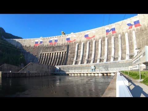Плотину СШГЭС украсила надпись «РОССИЯ»