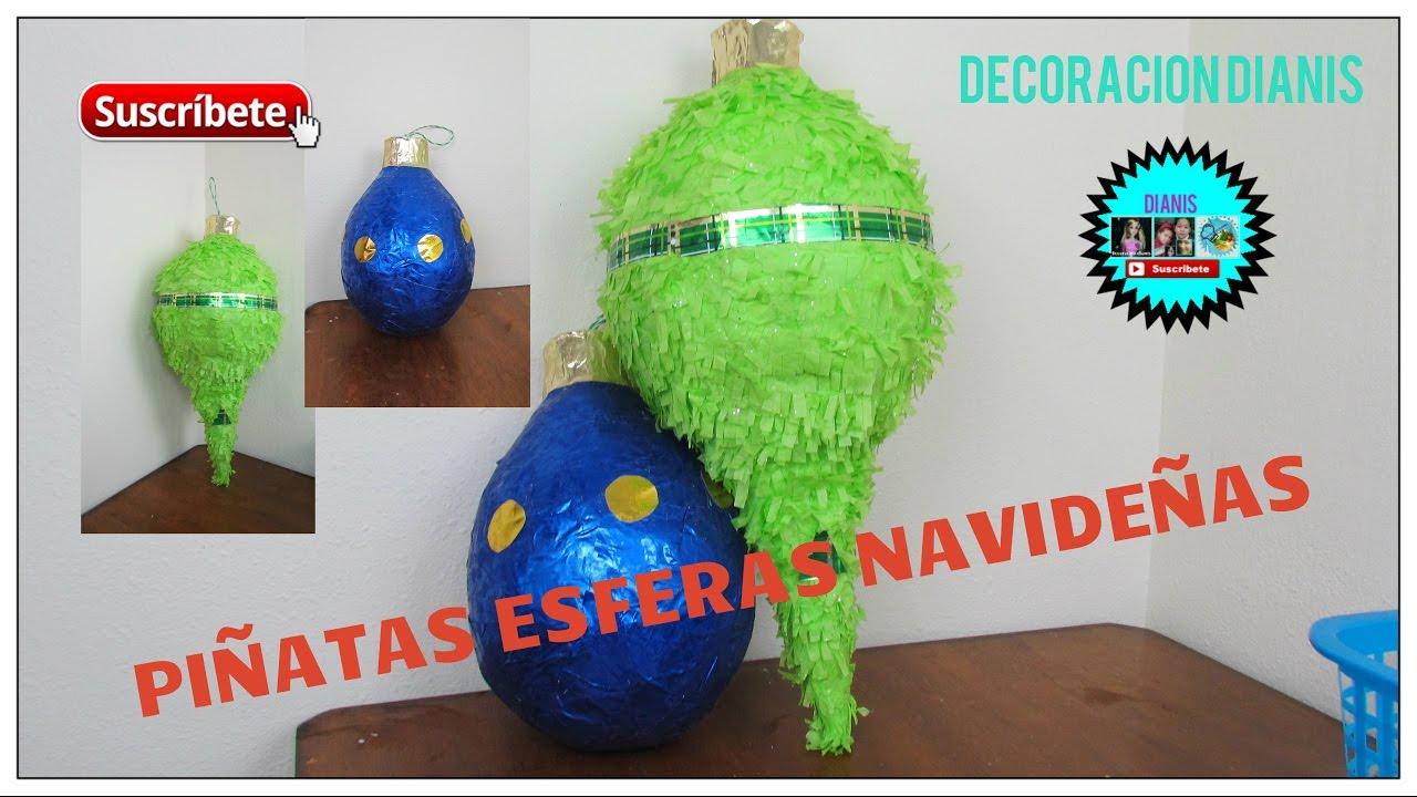 Piñata Esferas Navideñas Decoracion Dianis