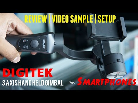 Digitek DSG 3 Axis Handheld Gimbal Stabilizer For Smartphone | Digitek Gimbal Review | Video Sample