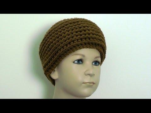 Crochet Beanie Hat - Child 4 to 8 Years - YouTube