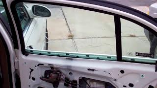 Replace Door Window Broken Glass on 2002 Buick LeSabre RR Window Regulator Motor Door Panels Pt.1