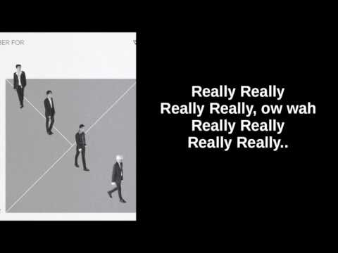 WINNER - REALLY REALLY (EASY LYRICS)