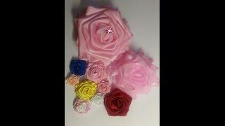 Como fazer rosa de fita de cetim sem agulha e linha e sem cola quente