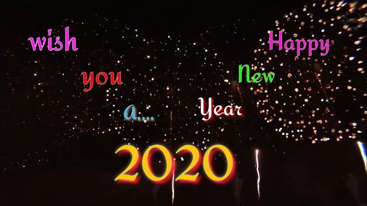 Happy New Year 2020 WhatsApp beautiful video status share ...