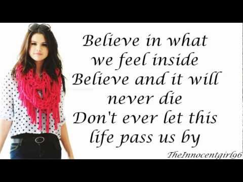 Live Like There's No Tomorrow - Selena Gomez & The Scene (Lyrics On Screen)