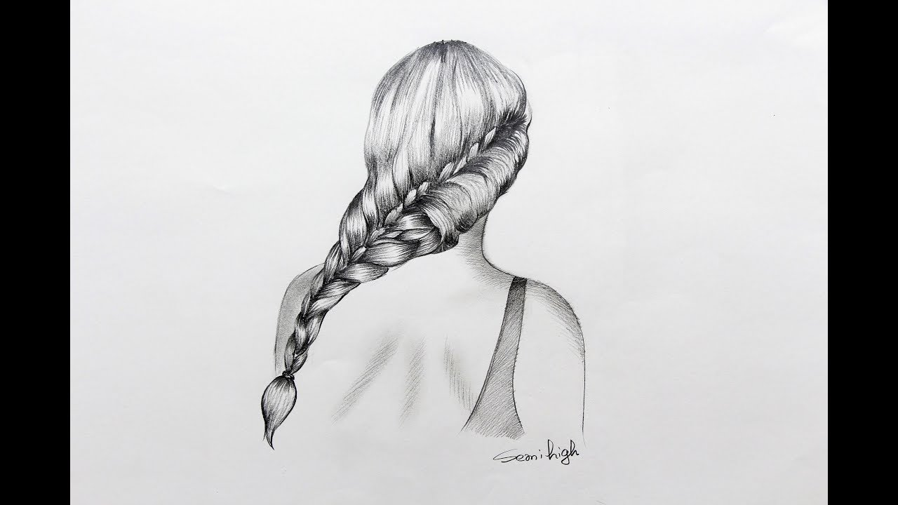 How to draw French Braid Hair Step By Step