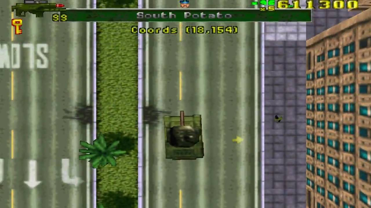 Gta 1 Grand Theft Auto Ps X Gameplay Tank Bug Youtube
