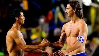 Sweden-Portugal 2-3 Ibrahimovic vs Ronaldo-Collision between legends