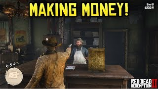 Red Dead Redemption 2 - MAKING MONEY! Legendary Animal Hunting, Robbing Stores & MORE!