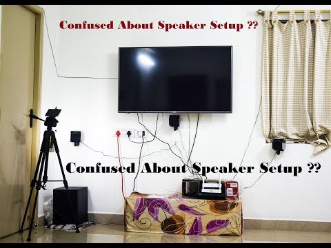 How to Set up a 5.1 Home Theater Speaker System || Sony HT-IV300 Home theater || Speaker Stand