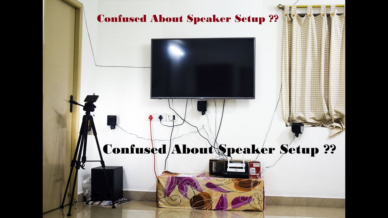 How to Set up a 5.1 Home Theater Speaker System || Sony HT-IV300 ...