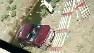 سقوط سيارة من على جسر بمدخل بلدية سيقوس