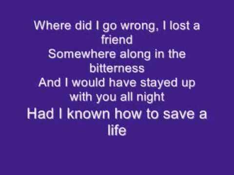 How To Save A Life Lyrics