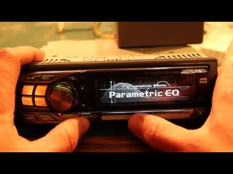 Alpine Electronics CDA-9855 Deck Radio Head Unit Overview
