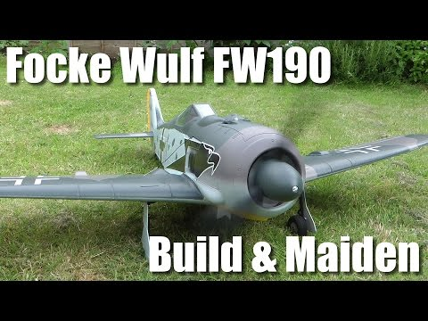 Hobbyking Top RC Model FW190 Build and Maiden