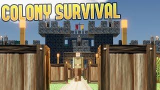 Colony Survival - Become King, Rule a Kingdom - Colony Survival Gameplay Highlights Part 1