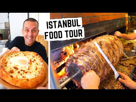 TURKISH FOOD TOUR | Best TURKISH FOOD In Istanbul, Turkey- Pide + Kebab | What TO EAT IN ISTANBUL