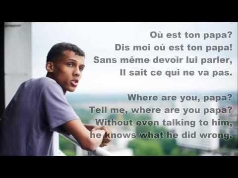Sromae- Papaoutai (French & English Lyrics)