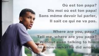 Sromae- Papaoutai (French & English Lyrics) Mp3