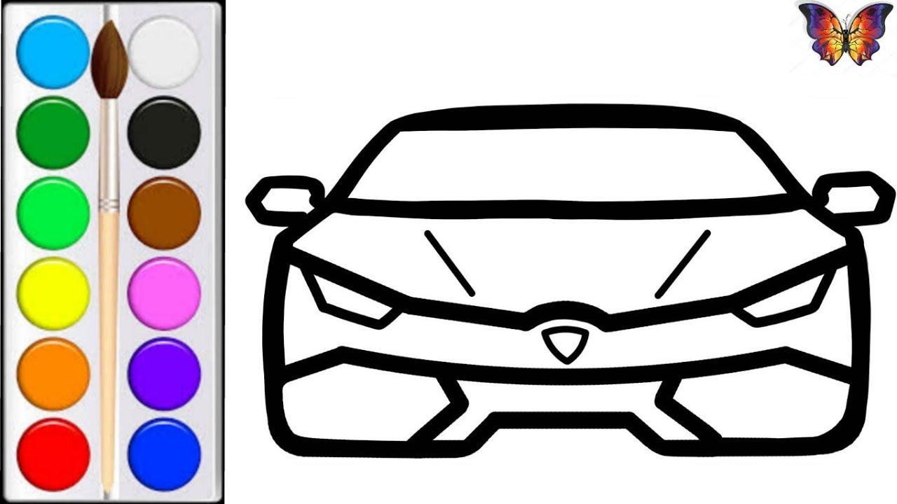 Как нарисовать СПОРТИВНУЮ МАШИНУ / мультик раскраска ...