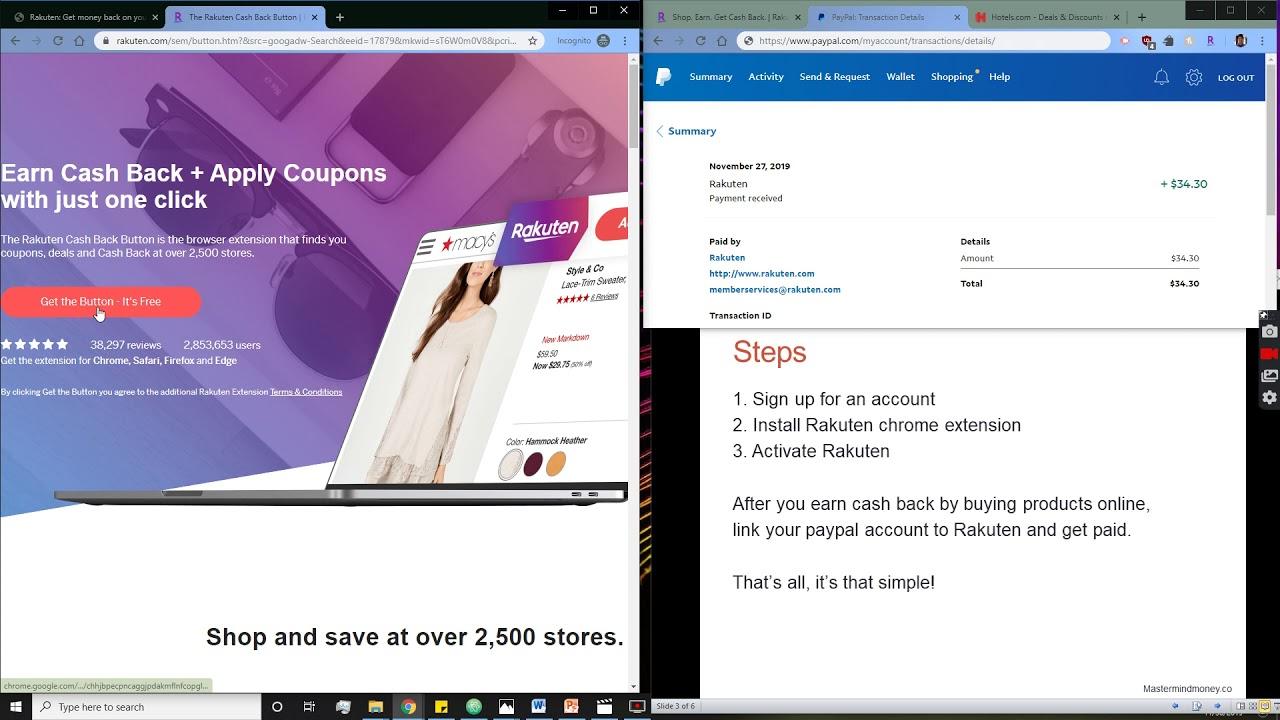 Rakuten Get Cash Back from Online Purchases   Mastermind Money