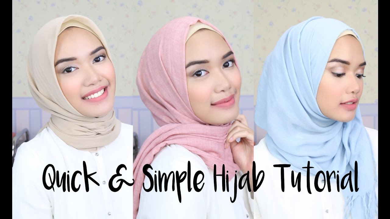 Quick & Simple Hijab Tutorial | DXB ♡ - YouTube