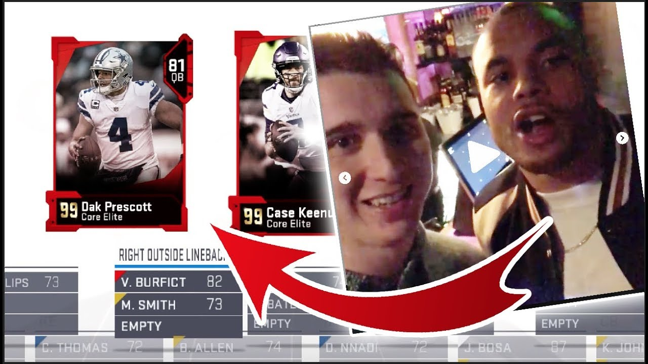 ONLY CAN DRAFT PLAYER IF I HAVE MET HIM! Madden 19 Draft