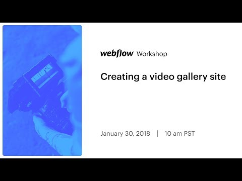 Creating a video gallery site