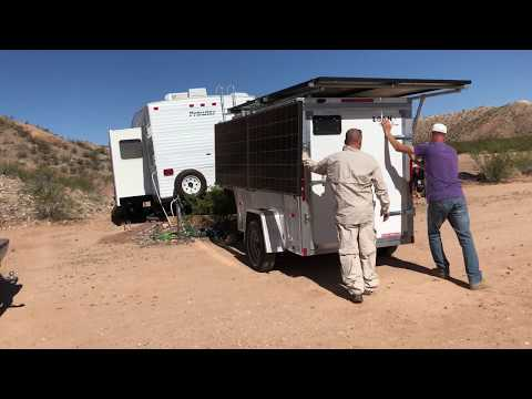 008: Off-grid solar trailer delivery/install