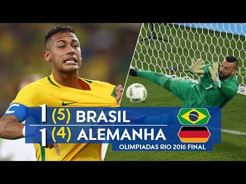 🔥 Бразилия - Германия 1-1(5-4) - Обзор Матча Финал Олимпийских Игр по Футболу 20/08/2016 HD 🔥