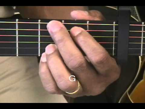 How To Play Guitar Chords Tutorial 23 Capo Fret 3 Key C Minor