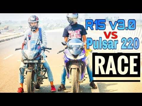 R15 v3.0 vs Pulsar 220 Drag Race | Top End | Highway Battle