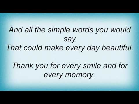 Sleeping At Last - Thanks For The Memories Lyrics