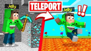 MINE = TELEPORT TROLL In SPEEDRUNNERS vs. HUNTERS! (Minecraft)