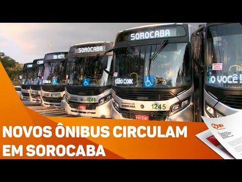 Novos ônibus circulam em Sorocaba - TV SOROCABA/SBT